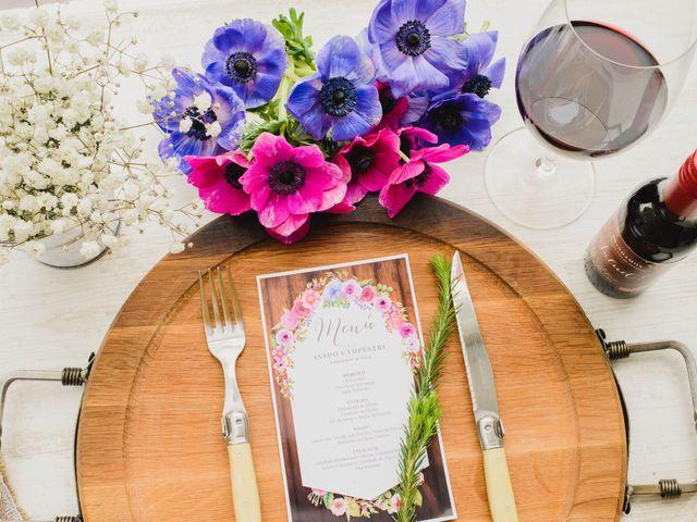 Las minutas para el banquete de su matrimonio