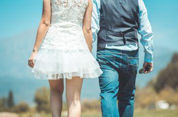 20 vestidos de novia cortos: cómodos y con estilo