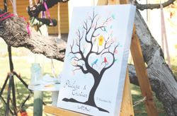 Árbol de huellas: una buena alternativa al libro de firmas