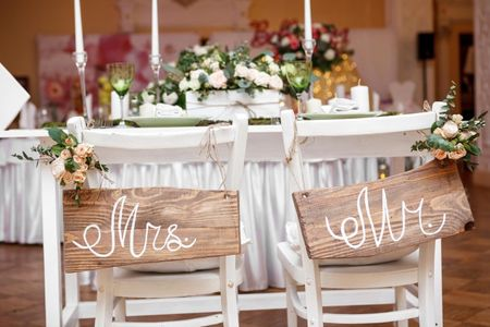 Mesa de honor para dos: sweetheart table