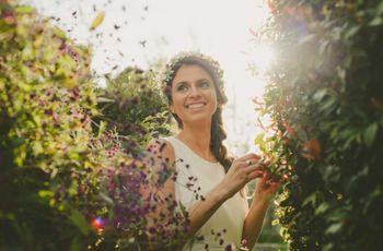 6 estilos de coronas de flores para tu peinado de novia