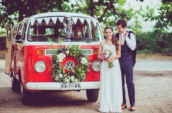 7 transportes originales para llegar al matrimonio
