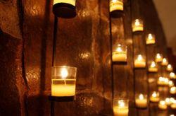 Decoraci�n rom�ntica con velas