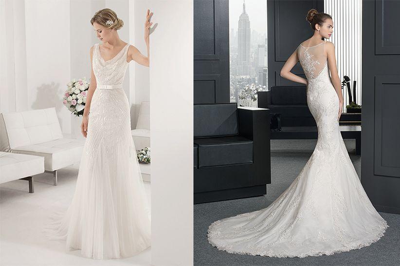 10 maravillosos vestidos para novias románticas