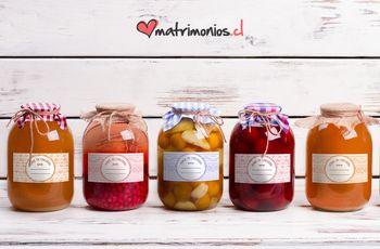 Etiquetas DIY para frascos de mermelada como souvenir