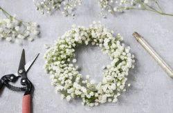 Crea tu propia corona de paniculata para el matrimonio