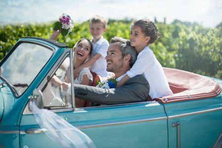 Protocolo para el matrimonio de novios con hijos