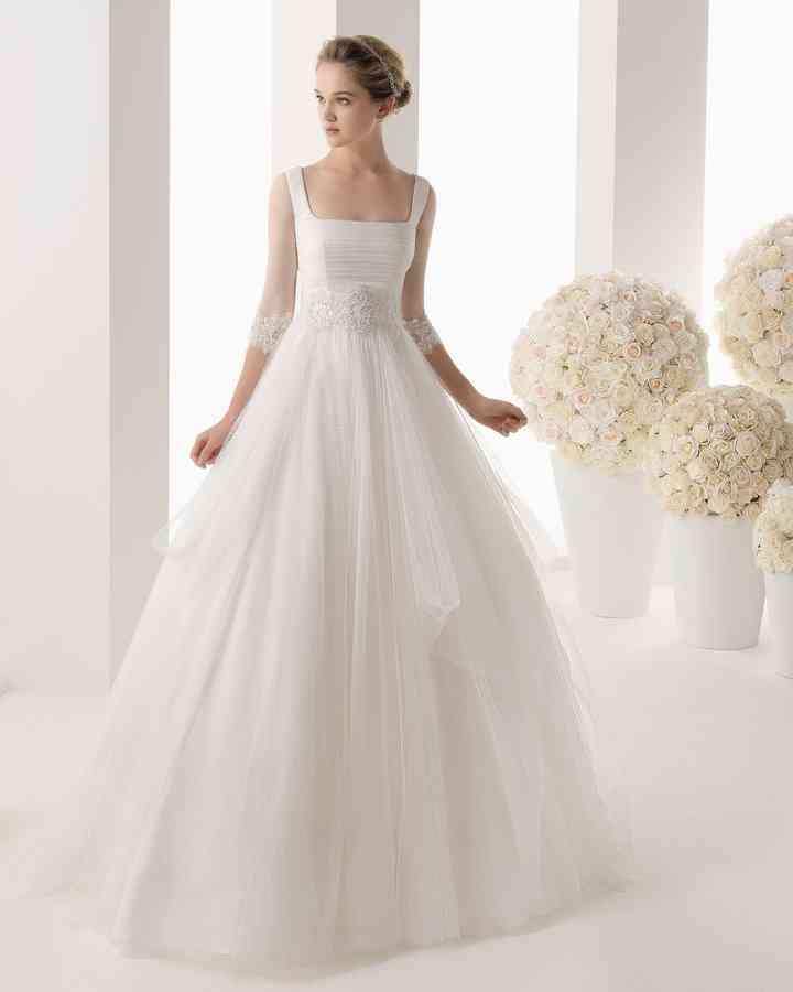 Vestidos de novia de manga tres cuartos