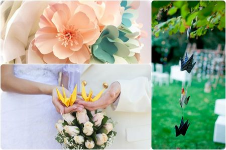 Origami y papel: una romántica tendencia para los matrimonios 2016