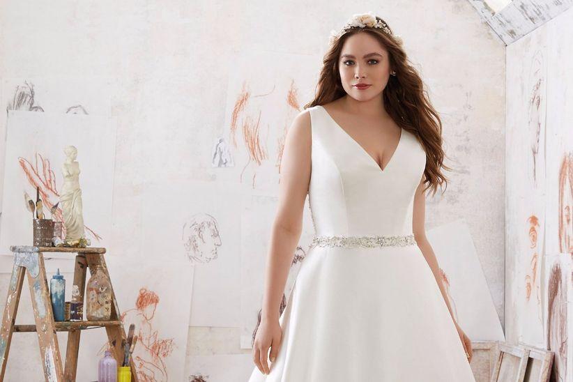30defea34 Vestidos de novia para gorditas  ¡Luce tu mejor ángulo!