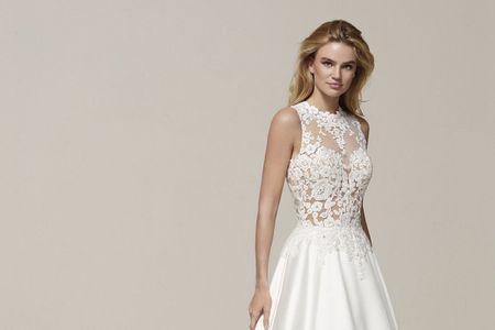 110 vestidos de novia con encaje que te enamorarán