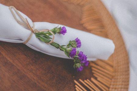 6 estilos de servilleteros para el banquete del matrimonio