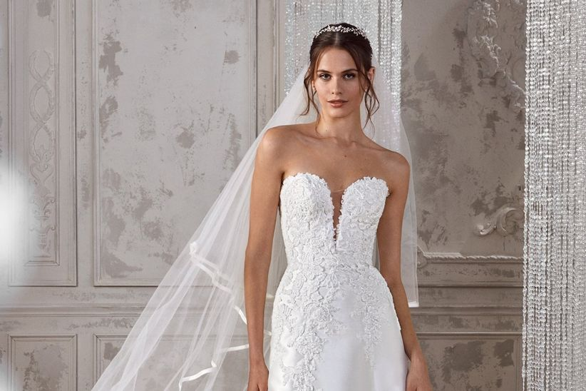 vestidos de novia st. patrick 2019: siluetas de románticos bordados