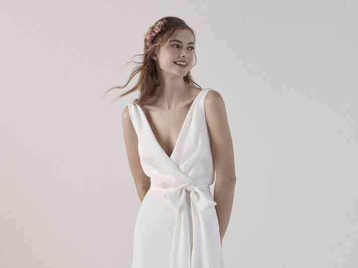 construcción racional mejor lugar modelado duradero Vestidos de novia largos para el civil: 40 modelos de ...