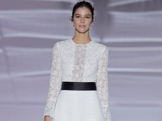 Atrévete a innovar con estos vestidos de novia con toques negros