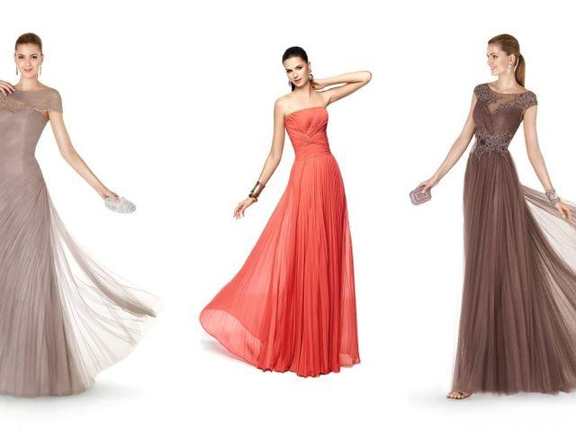 Color y elegancia en los vestidos de fiesta de Pronovias 2015