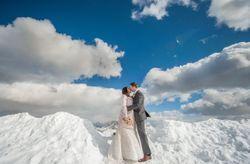 Kim y James: matrimonio en las idílicas cumbres de los Alpes