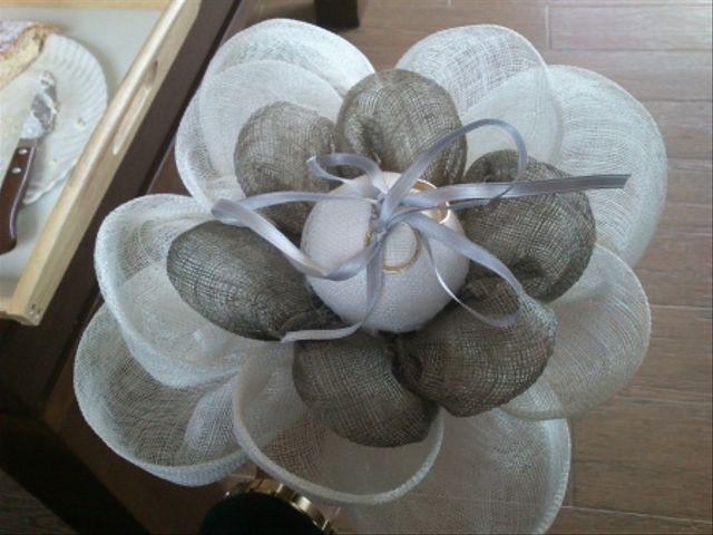 Dyi: Flor porta argollas de sinamay