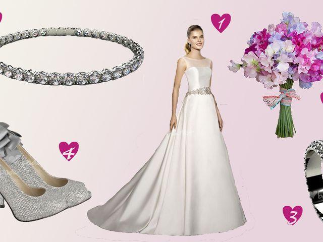 Look de novia con detalles en glitter