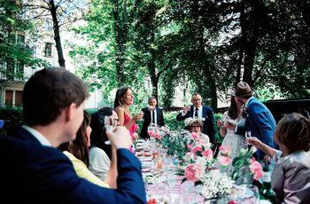 5 tipos de banquete de matrimonio según la ceremonia