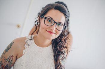 Encuentra el maquillaje ideal si eres una novia con lentes
