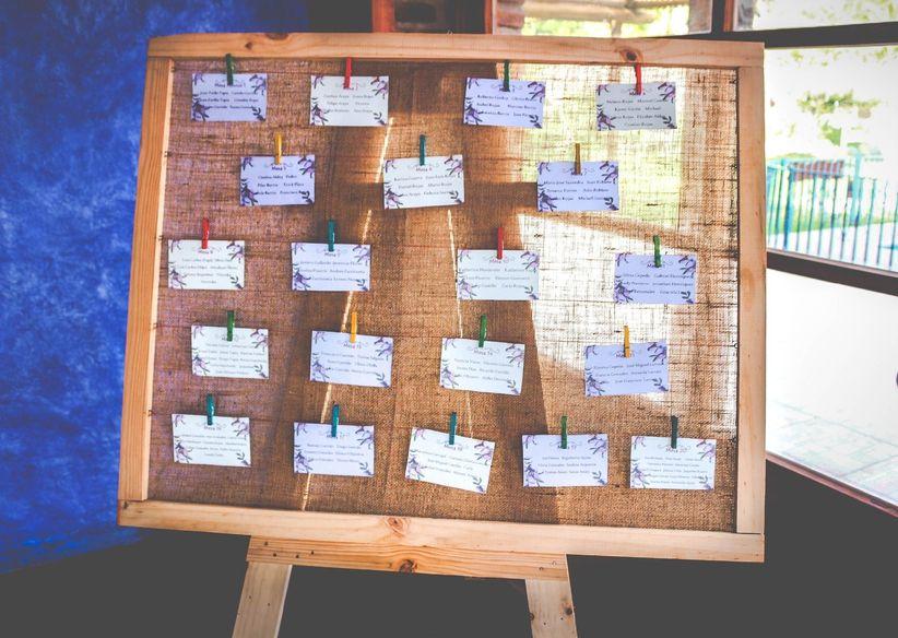 ideas para poner nombres originales a las mesas del banquete