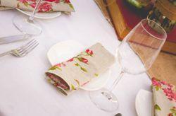 12 servilleteros para el banquete del matrimonio