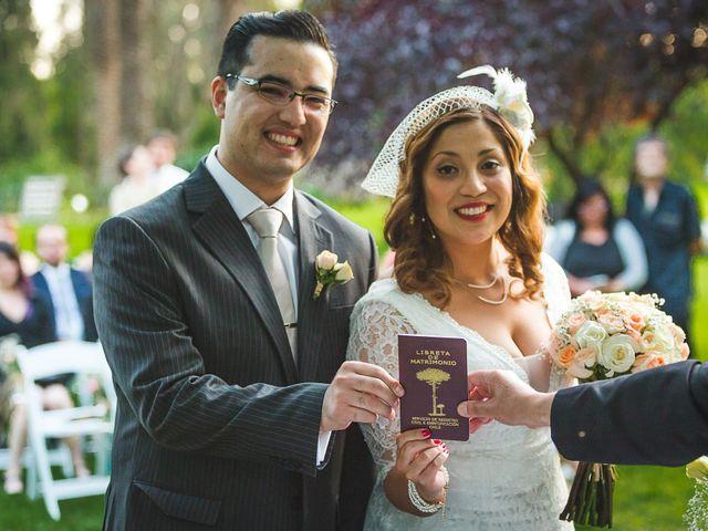El matrimonio de Nataly y Alex: una fiesta con inspiración retro