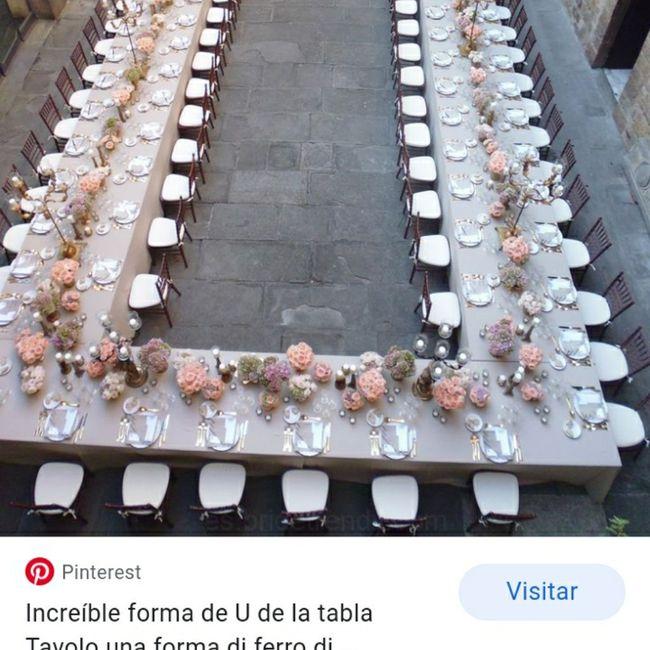 Les parece que la comida sea con una mesa en u.. ?? - 1