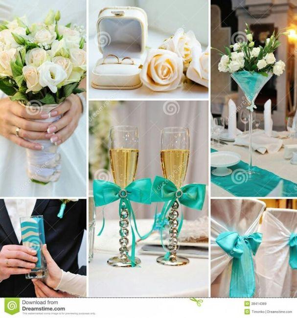 Inspiración para boda color turquesa