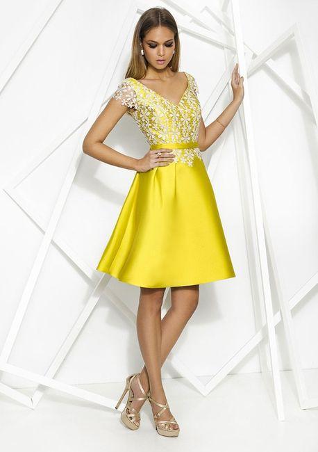 72f5d82a86d6e elegante full Vestidos amarillos para boda Civil 5
