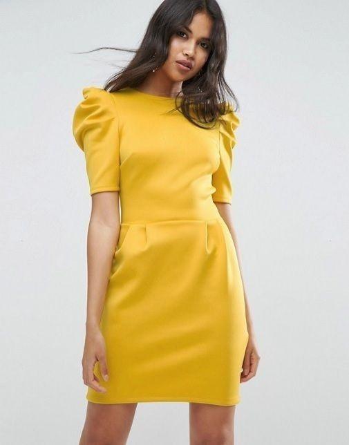 5f2a7cdd2bc88 manga globo Vestidos amarillos para boda Civil 17