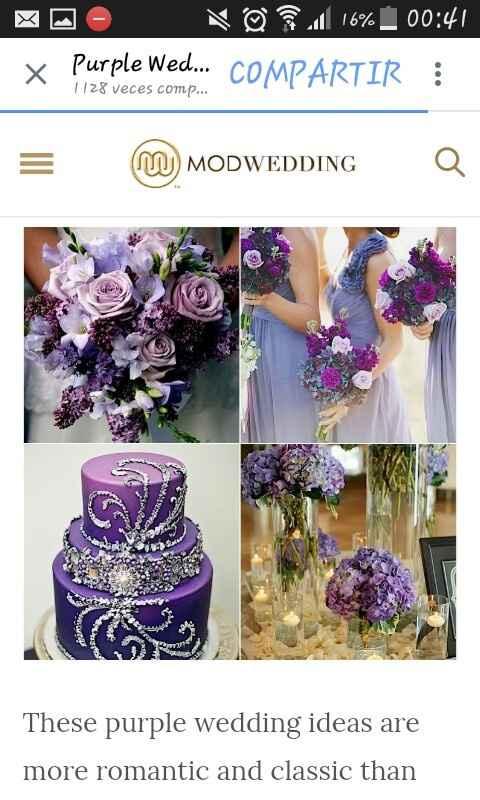 Quien uso lila o morado para decorar el salon ???? - 6