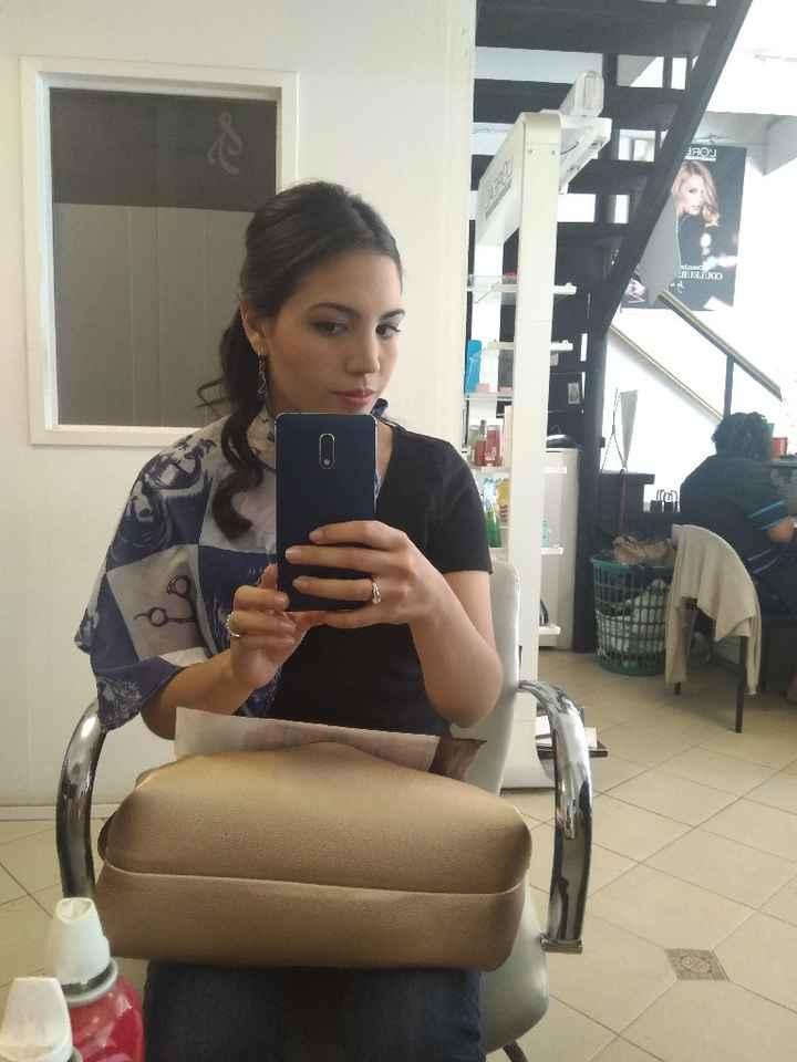Prueba de maquillaje  y peinado 💕 - 1