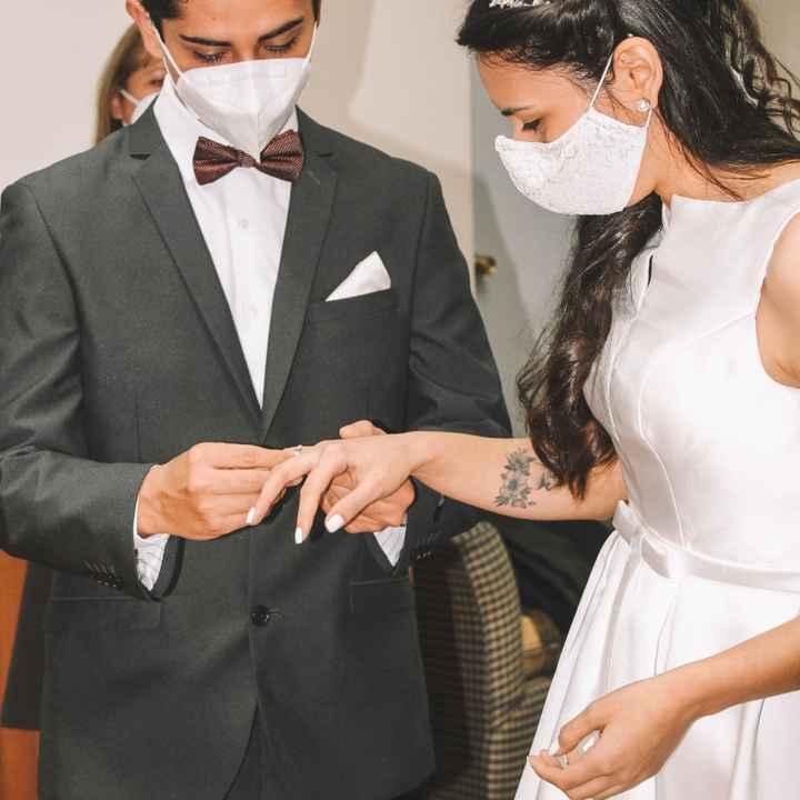 Bellas, los anillos cuando es boda civil y religiosa, se ponen en cual de las ceremonias - 1