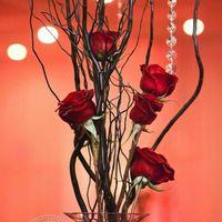 Busco ideas centros de mesa para Manteleria roja - 1