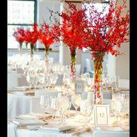 Busco ideas centros de mesa para Manteleria roja - 4