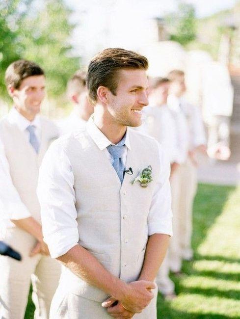 Look novio para matrimonio rústico o de día 15