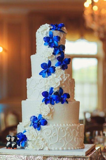 Tortas en color Azul 1