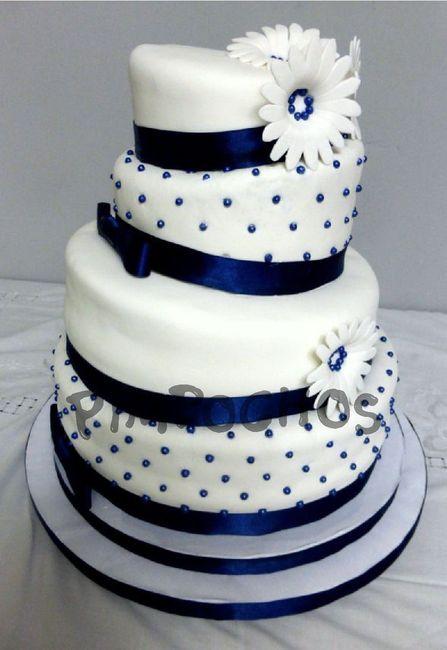 Tortas en color Azul 5