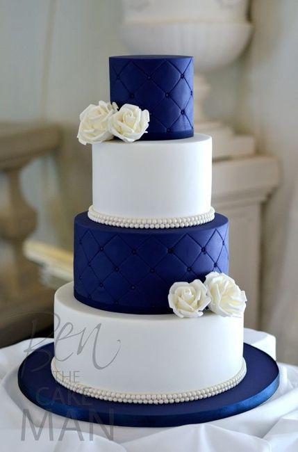 Tortas en color Azul 6