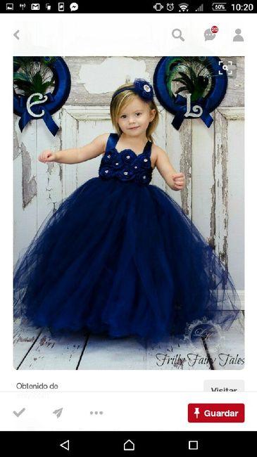 Vestidos Pajes Tono Azul