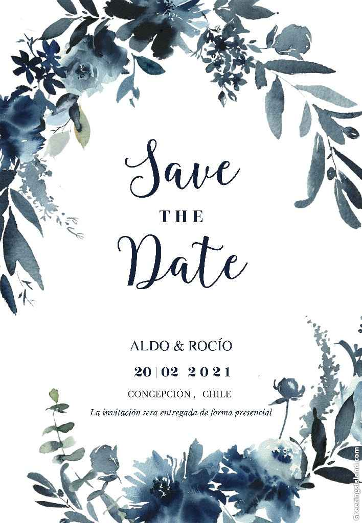 """Tener o no tener """"save the date""""??? - 1"""