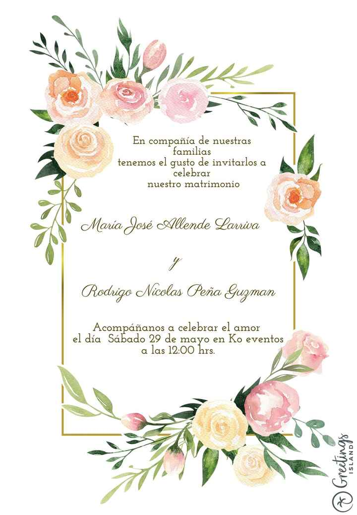 Invitacion de matrimonio - 1