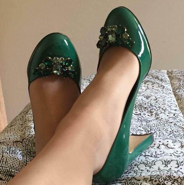 Zapatos verde esmeralda 2