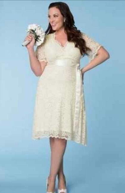 90c337833 Vestidos para matrimonio civil para novias con curvas 🌷 12