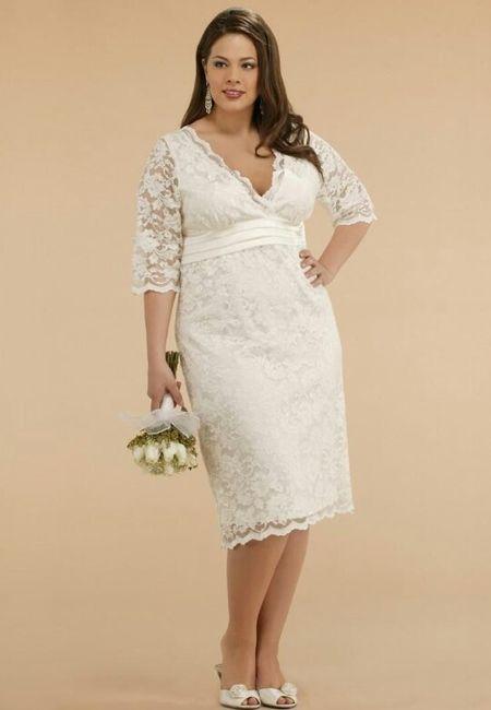 72d0ed8e3 Vestidos para matrimonio civil para novias con curvas 🌷 16