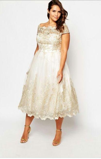 ce80ff3d2 Vestidos para matrimonio civil para novias con curvas 🌷 18