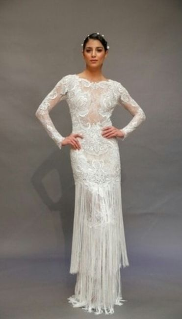 vestidos de novia con flecos 😍