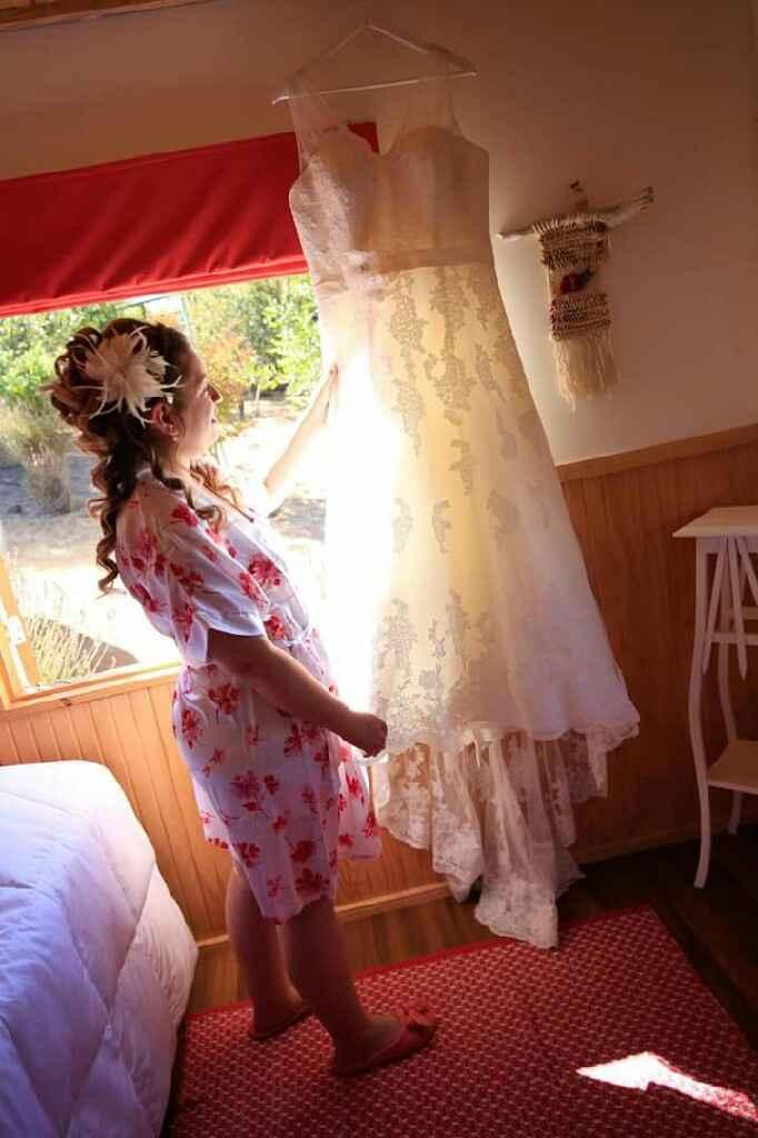 ¿batas o kimonos para preparación el día de la boda?. - 1